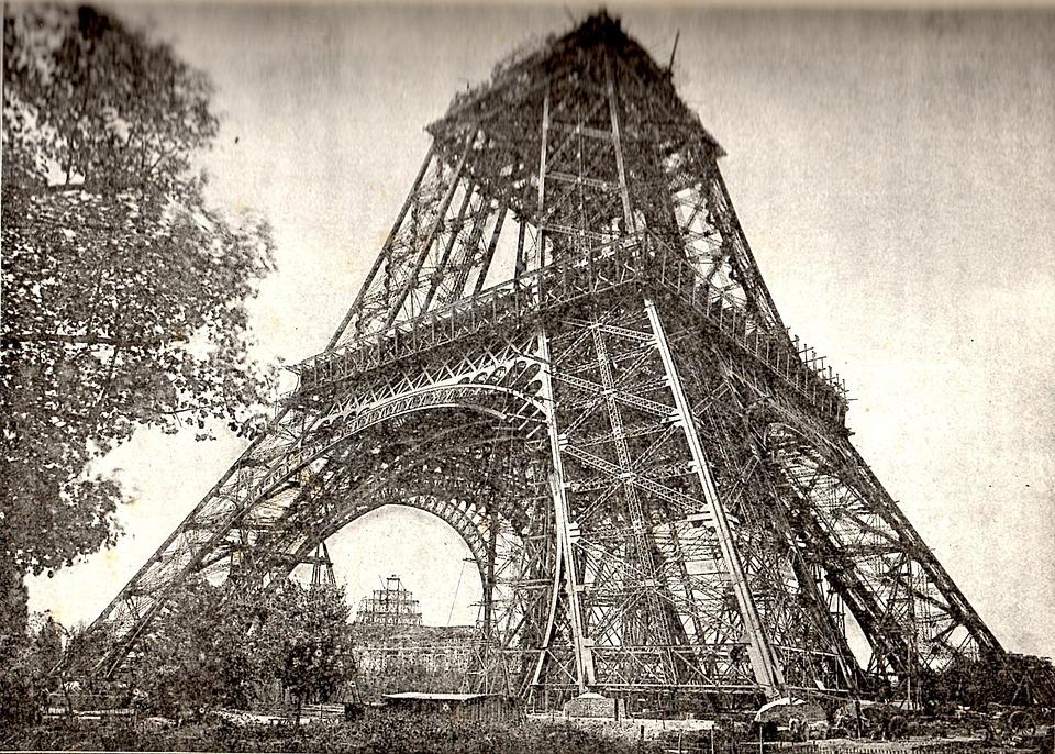 Tour Eiffel En Construction, Juillet 1888, Paris