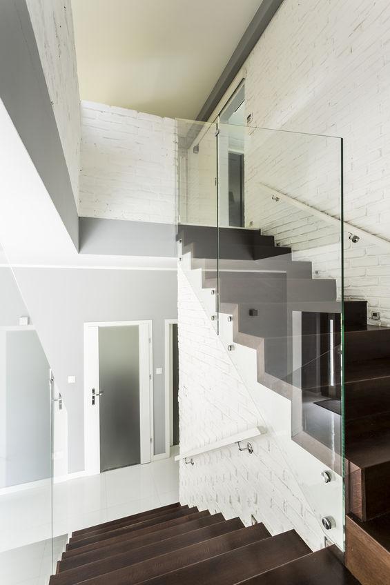 garde-corps verre LED escalier