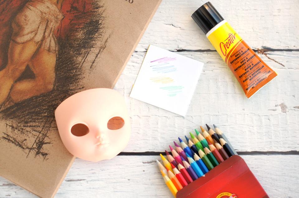 Crayon, Crayons, Masque, La Colle, Créatif, Art