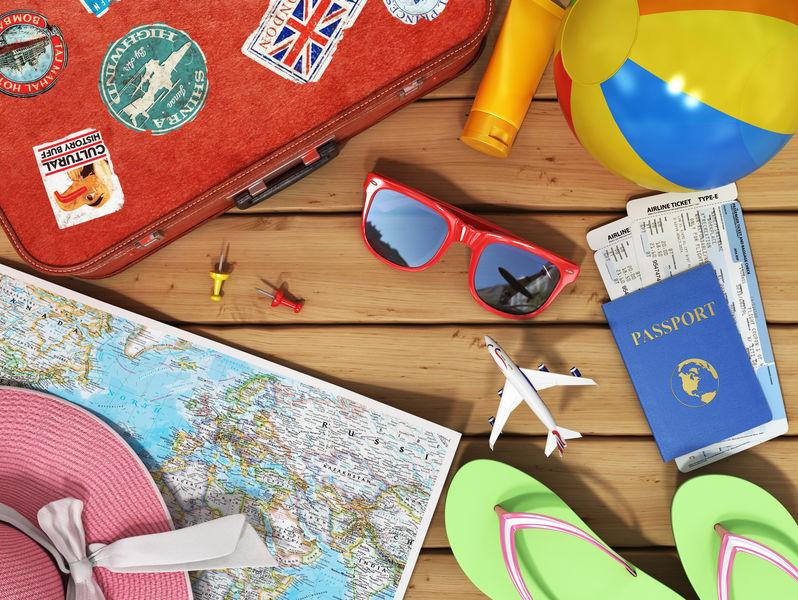 passeport, carte du monde, préparer un voyage