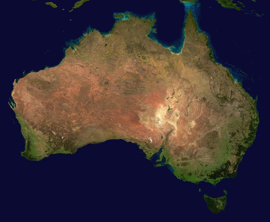 Australie, Continent, Vue Aérienne, Géographie