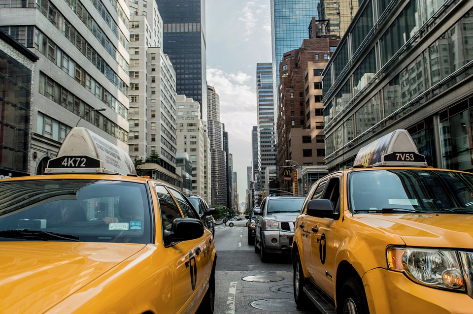 Taxi Cab, Le Trafic, Cab, New York, Rue, Route, Nyc