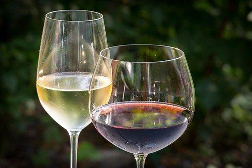 Vin Blanc, Vin Rouge, Vin, Verres