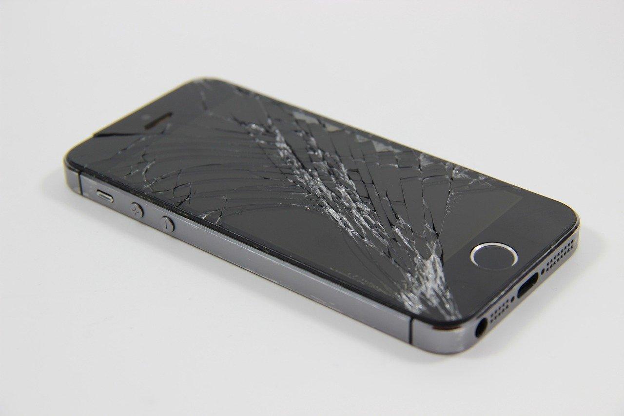 Un smartphone cassé
