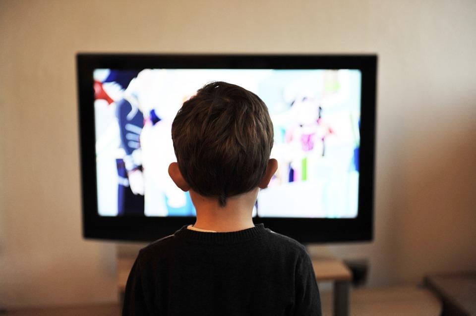 Enfants, Tv, Enfant, Télévision, Accueil, Personnes