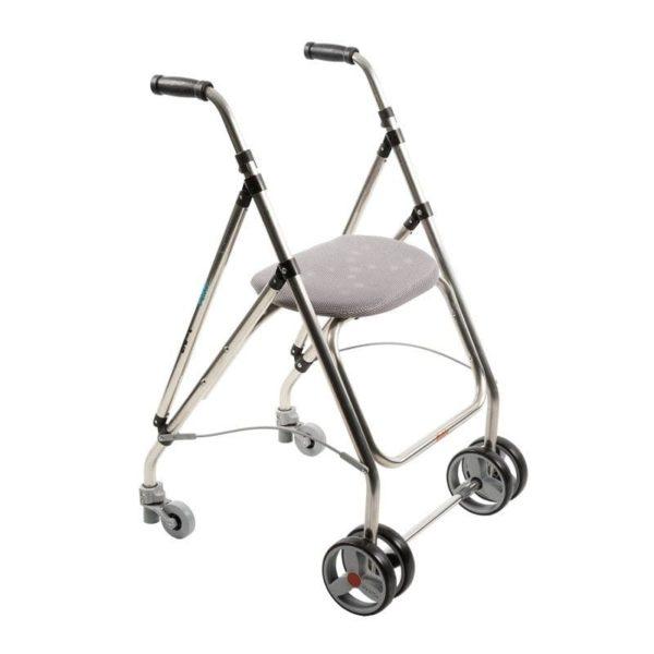 Rollator2 roues, un siège rembourré pour le repos
