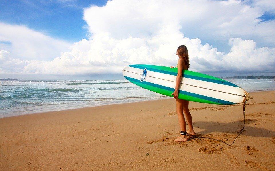Surf, Jeune Fille, Femmes, Surfeur, Planche De Surf