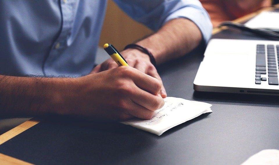 Écrire, Plan, Bureau, Notes, Stylo, Écrit